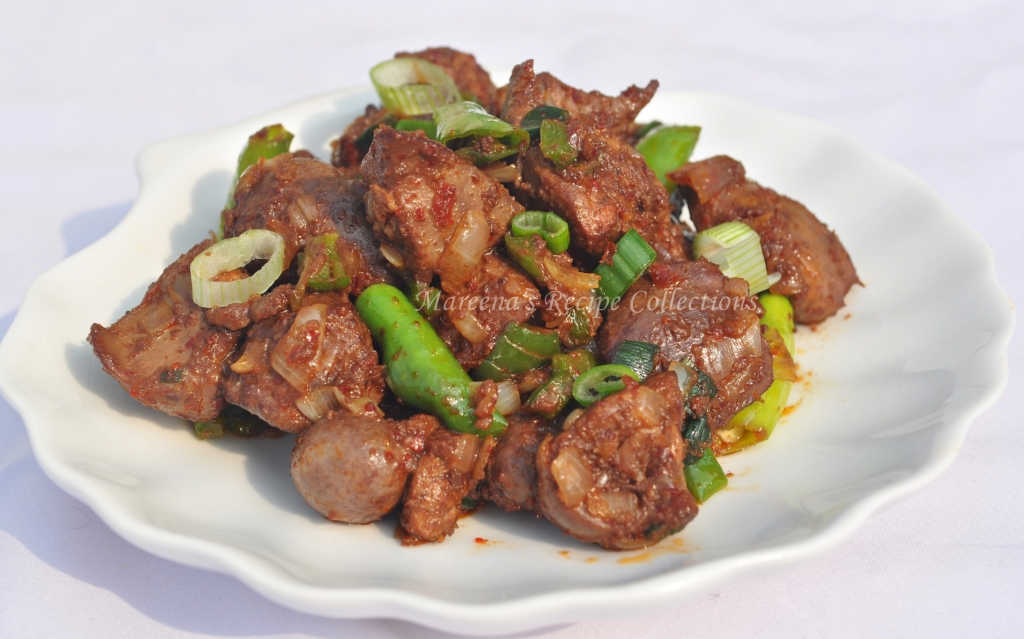Fried Chicken liver chilli
