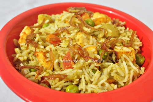 Hyderabad Paneer Biryani 1