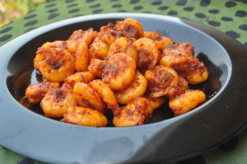 Stri fried prawns