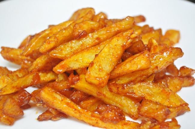 Honey Chilli potato1