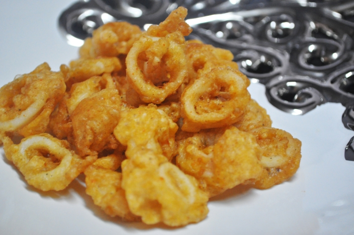 Fied squid rings